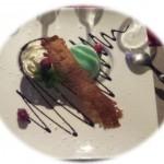 Soufflé Glacé à la menthe et sa coque en chocolat