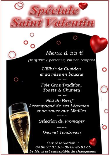 menu saint valentin_La Péniche Arles