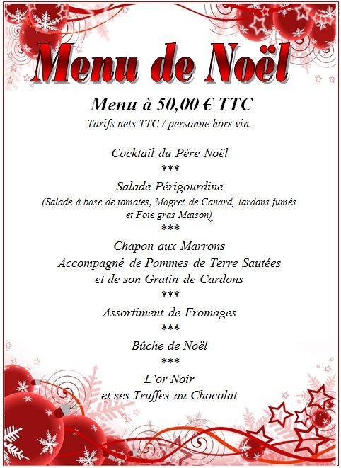 Menu Reveillon De Noel.Menu De Noel 24 Decembre 2012 La Peniche A Arles